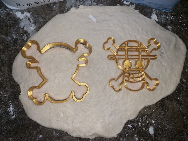 One Piece Anime Luffy Skull Cookie Cutters/Luffy/Pirate Flag/One Piece Stamp
