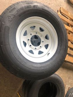 "Sale!!! 16"" 8 lug Trailer tires - 235/80/16 Ranier Radial 10 ply - Tire and Rim - New date codes - we install for free - 16"" 8 lug trailer tires for Sale in Plant City,  FL"