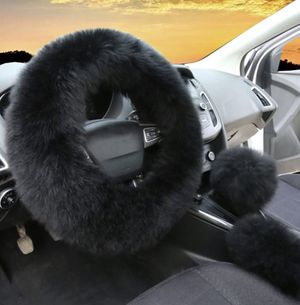 Fuzzy Black Steering Wheel Cover for Sale in Swansea, MA