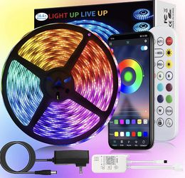 😘 $10 Brand New In Box 16.4ft RGB LED Strip Lights Waterproof for Sale in Malden,  MA
