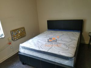 Brand New Queen Size Leather Platform Bed Frame ONLY (No Mattress) for Sale in Silver Spring, MD