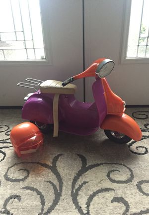 American Girl Doll Motorcycle with Helmet - Used - Negotiable Price for Sale in Freehold, NJ