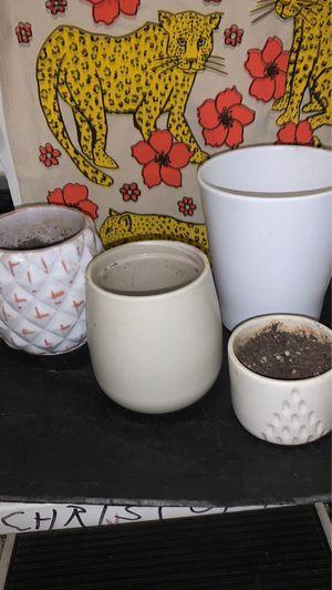 West Elm + more IMPORTED ceramic flower pots + .... for Sale in Portland, OR