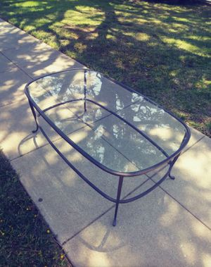 Antique Glass coffee table no scratches looks so elegant! for Sale in Los Angeles, CA
