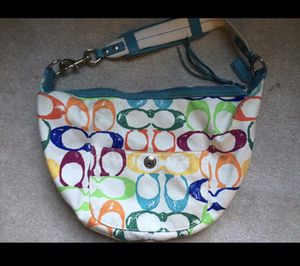 Coach signature scribble print hobo bag for Sale in Bowie, MD