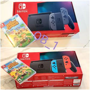 BRAND-NEW Nintendo Switch with Animal Crossing Game Bundle- BRAND-NEW Gray or Neon Available- for Sale in Alafaya, FL