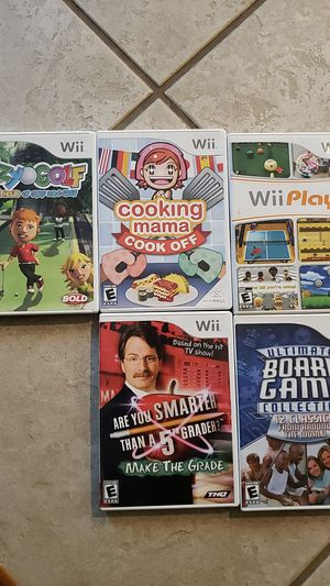Wii games set of 5 for Sale in Buckley, WA