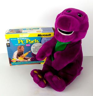 ActiMates 1997 Interactive Barney Plush with PC Pack Software and Transmitter for Sale in Knoxville, TN