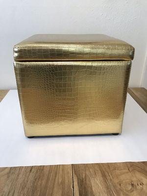 Gold Metallic Storage Container for Sale in San Antonio, TX
