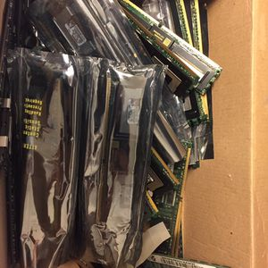 Bulk Lot of Older PC Parts (RAM, HDDs, Network Cards) for Sale in El Cerrito, CA