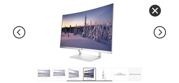 HP 27 Z4N74AA#ABA 27 Curved LED Monitor, Pike HP27SC1