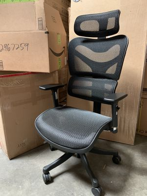 Original $288. Black Mesh High Back Executive Office Chair with Neck Support#726 for Sale in El Monte, CA
