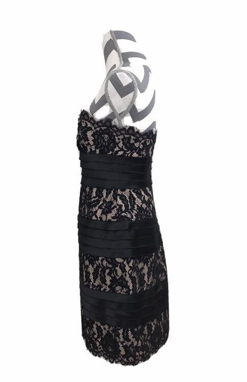 BCBG MAXAZRIA Strapless Satin & Lace Dress - Size 4