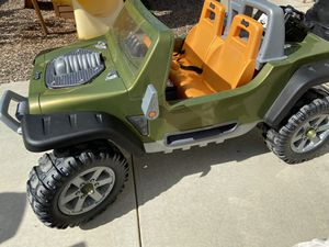 Power Wheels Jeep Hurricane Extreme / Hot Wheels/ Kids Jeep with Car battery for longer distances for Sale in Corona, CA