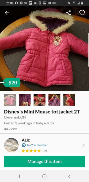 Baby Mini mouse coat for Sale in Cleveland, OH