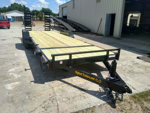 14k flatbed Equipment trailer 24' skid steer tractor mini excavator trailers for Sale in Tampa, FL