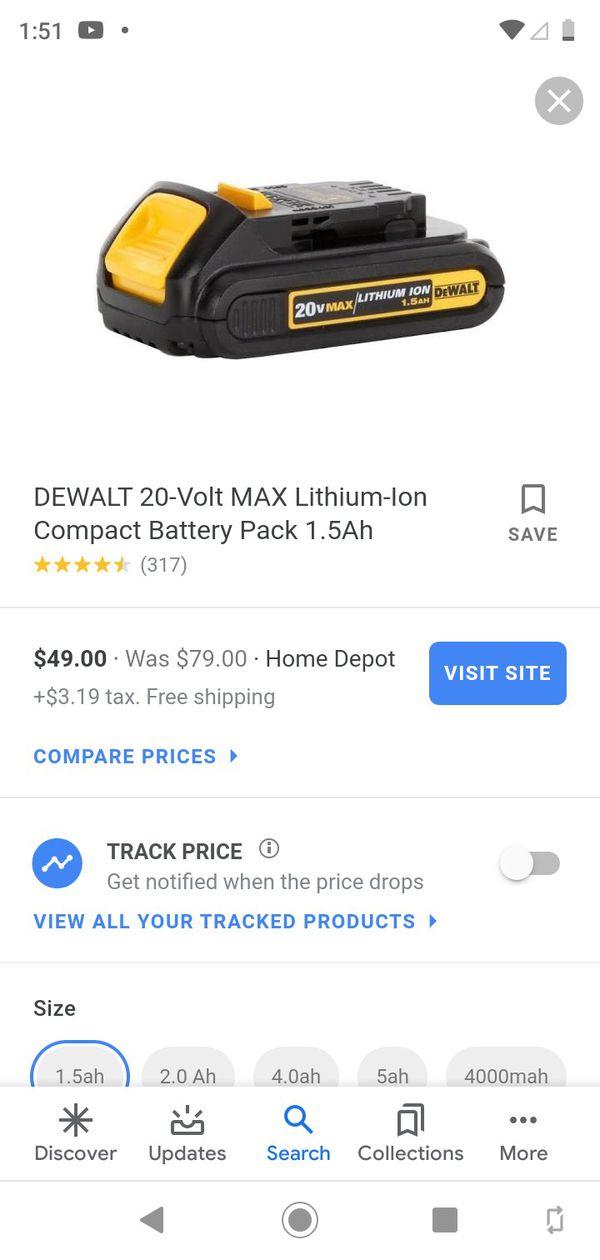 *NEW* DEWALT 20V MAX BATTERY PACK
