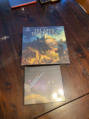 Sealed board games Entanglion and island fortress for Sale in Providence, RI