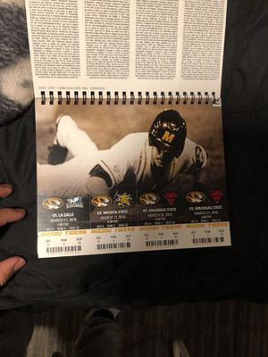 "Mizzou Baseball Season Tickets "" Selling individual tickets"" for Sale in Columbia, MO"