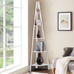 Costway 5 Tier Corner Bookcase, Ladder Shelves, Floor Stand for Sale in Palmdale, CA