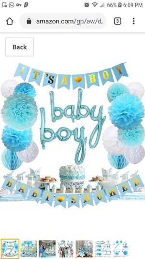 Baby Boy Shower Decorations for Sale in Queens, NY