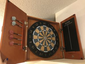 Slightly used Wood DartBoard for Sale in Austin, TX