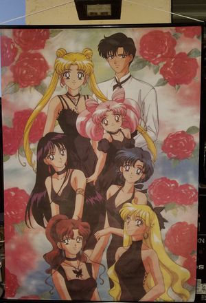 SAILOR MOON MATERIAL WALL SCROLL/BANNER for Sale in Peoria, AZ