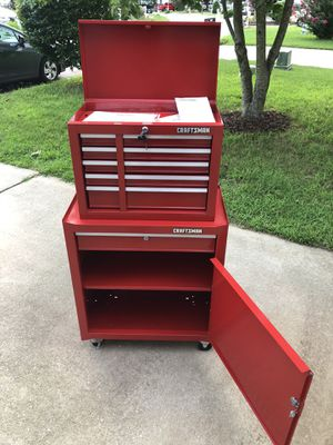 Craftsman Chest & Cabinet with 6 Sliding Drawers Rolling toolbox for Sale in Apex, NC