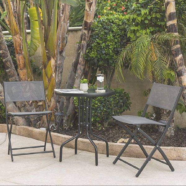 BRAND NEW 3 Piece Patio Set Outdoor Furniture Weather Rust Resistant