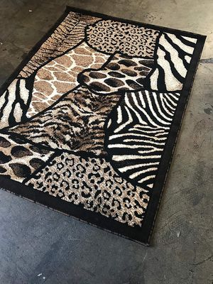 Animal print design area rug brand new thick quality for Sale in Salem, OR