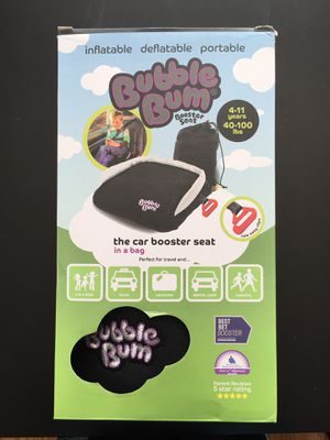 NEW BUBBLE BUM BACKLESS INFLATABLE BOOSTER SEAT, BLACK for Sale in Lomita, CA