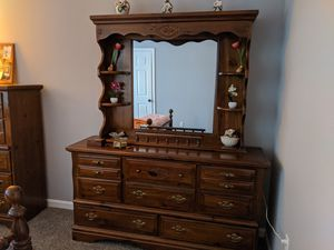 Solid Wood Seven Piece Bedroom Set for Sale in Cumberland, RI