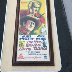 The Man Who Shot Liberty Valance Framed And Matted Poster for Sale in Las Vegas,  NV