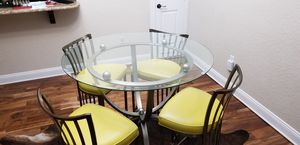 Solid iron modern hightop table and bar stools for Sale in Safety Harbor, FL