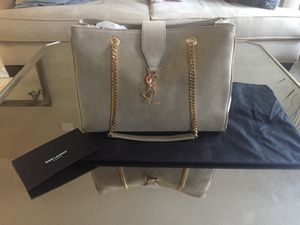 YSL suede tote BRAND NEW with dust bag and receipt for Sale in Los Angeles, CA
