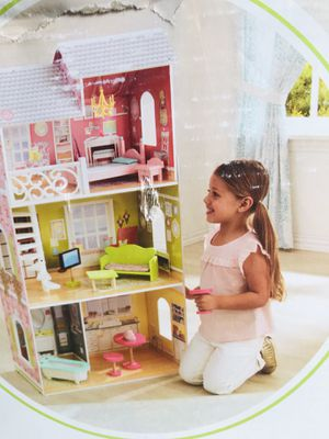 """Kidkraft Aria Dollhouse Fits 12"""" Barbie Doll 11 PC Furniture Set for Sale in Ceres, CA"""
