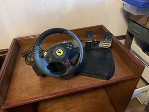 Thrustmaster Ferrari Racing Wheel for PC or PS2 for Sale in Killeen, TX