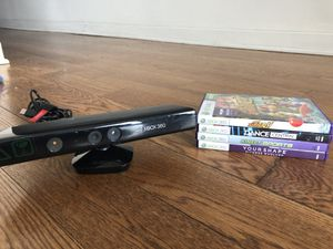 Xbox 360 Kinect camera and games for Sale in Chicago, IL