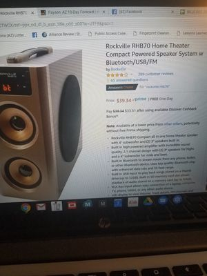 Rockville RHB70 speaker system for Sale in Payson, AZ