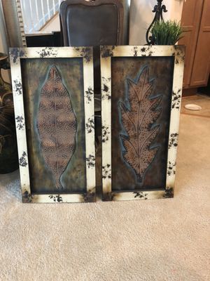 Two metal wall decorative art for Sale in Frederick, MD