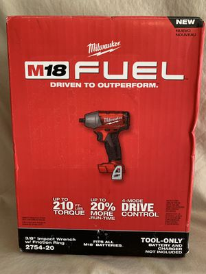Milwaukee M18 FUEL 18-Volt Lithium-Ion Brushless Cordless 3/8 in. Compact Impact Wrench with Friction Ring (Tool-Only) - NEW IN BOX for Sale in Spring, TX