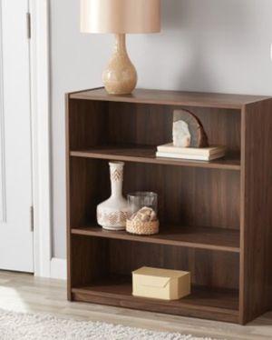 New!! Bookcase, bookshelves, 3 shelf bookcase, storage unit, organizer, living room furniture, walnut for Sale in Phoenix, AZ