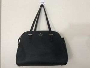 Authentic Kate Spade ♠️ Black Leather Shoulder Bag/ Tote/ Purse for Sale in Buena Park, CA