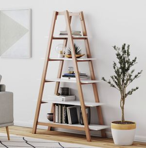 NEW 5 Shelf Ladder Bookcase for Sale in Scottsdale, AZ