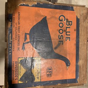 Vintage Wooden Crate, Blue Goose Oranges, American Fruit Growers for Sale in Dover, PA