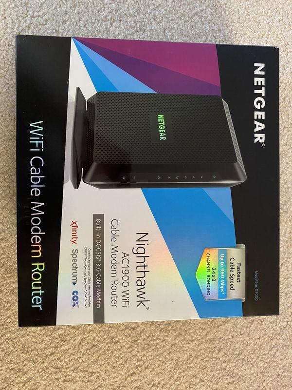 Netgear nighthawk Wifi Cable Modem Router