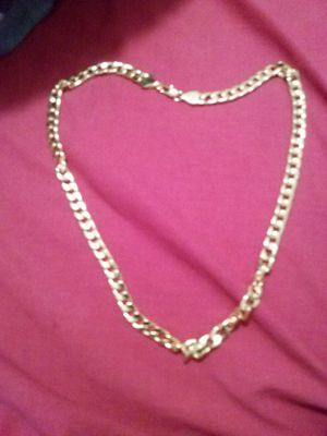 "Cuban link chain 18""KT gold fill necklaces gold 28"" inches long for Sale in Orlando, FL"