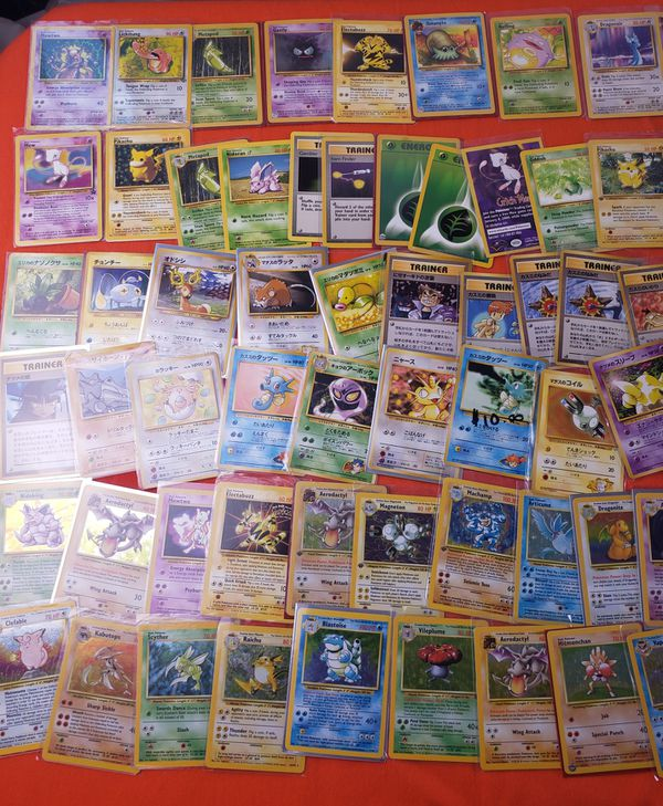 Vintage Pokemon and Pocket Monster Card Lot
