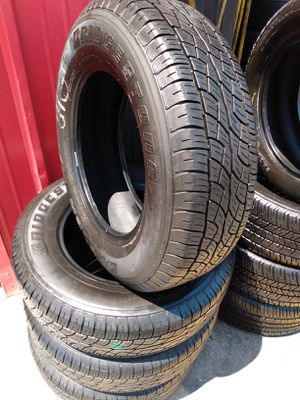 Set 225/70/16 Bridgestone Dueler H/T used $260 Includes installation and balance for Sale in Norwalk, CA