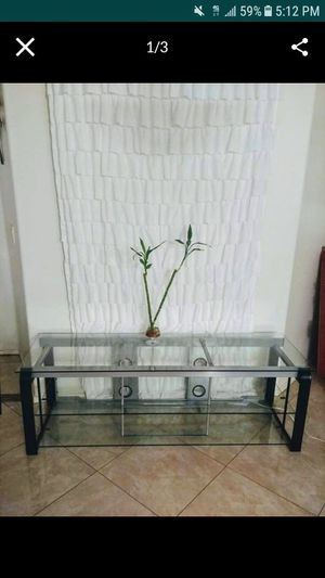 Copenhagen, Elegant, Spacious and Beautiful Glass Top TV stand. for Sale in Mesa, AZ
